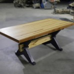 bowling alley x-trestle table