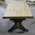 maple bowling alley x-trestle table