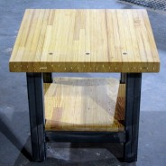 bowling alley end table – chamberlin series