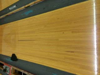 reclaimed bowling alley lane sections